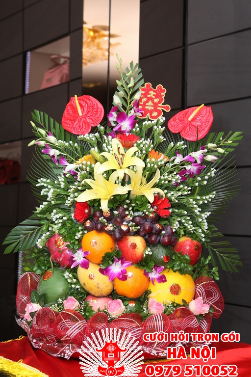 tráp hoa quả, trap hoa qua, tráp hoa quả ăn hỏi, trap hoa qua an hoi, trap qua an hoi, tráp quả ăn hỏi
