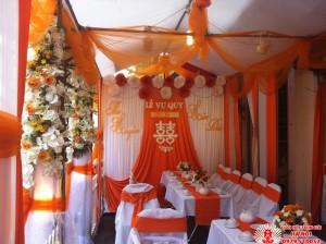 bàn ghế đám cưới trắng cam, ban ghe dam cuoi trang cam, ban ghe cuoi hoi, bàn ghế cưới hỏi